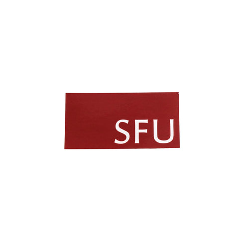 Exclusive Pricing SFU Sticker Block 2x1""