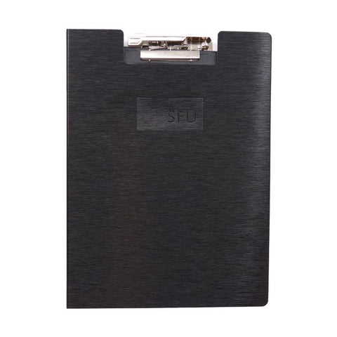 SFU Clipboard w/recycled Lined Writing Pad Black