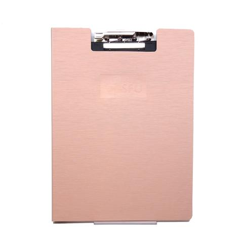 SFU Clipboard w/recycled Lined Writing Pad Rose Gold