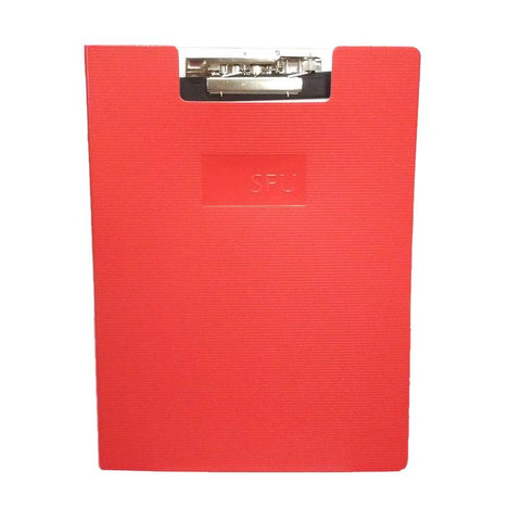 SFU Clipboard w/recycled Lined Writing Pad Red