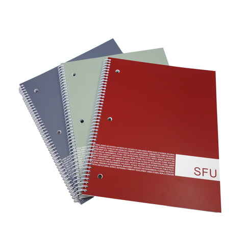 SFU Faculty Recycled Notebook Coil Lined 1,2 or 3 subject