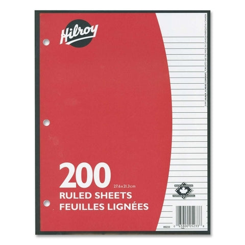 Hilroy Ruled Filler paper 200 sheets