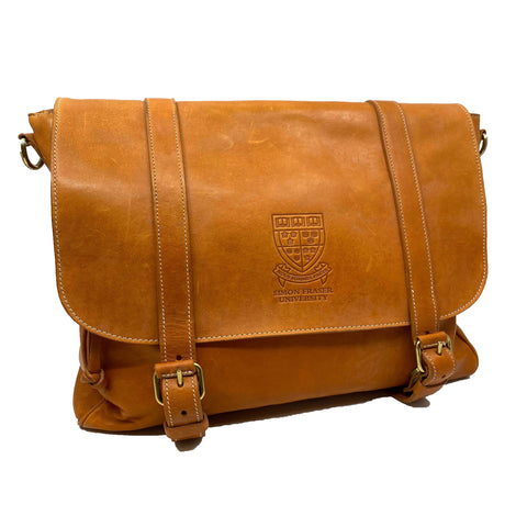 SFU Crested Roots Leather Bag