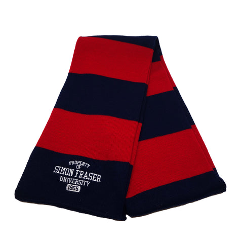 SFU Rugby Scarf Navy Red