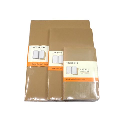 Moleskine Cahiers Collection Kraft Ruled set/3 per size