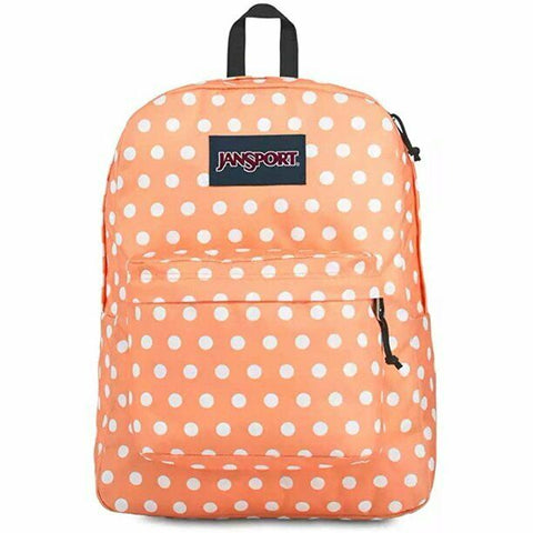 Jansport Superbreak Backpack Creamsicle Polka Dot