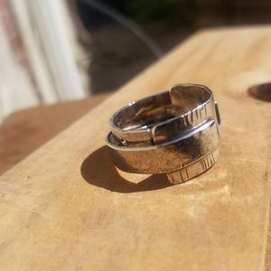 Textured love Ring
