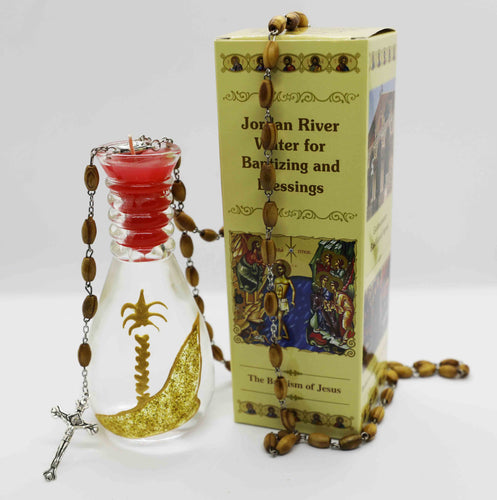 Olive Wood Rosary with Holy Water from the Jordan River | Holy Valley