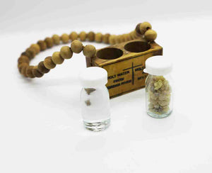 Olive Wood Wall Rosary with Holy Water from the Jordan River | Holy Valley