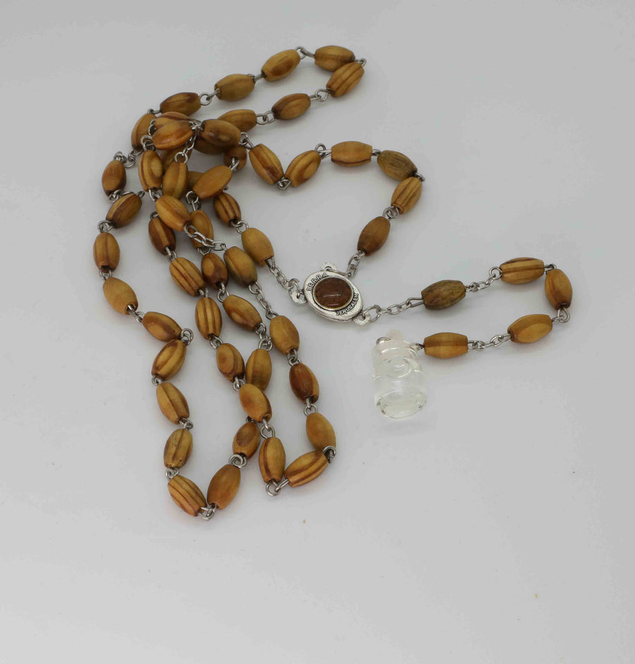 Chaplet/Bracelet Holy Rosary - Olive Wood with Holy Land Soil and Water | Holy Valley