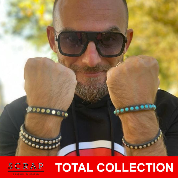SALE SPECIAL PRICE - CINQUE BRACCIALI SCRAPDOGTOWN  TOTAL COLLECTION - spedizione inclusa