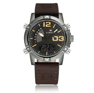 NAVIFORCE Men's Fashion Sport Watches - Man Leather Military Waterproof Watch