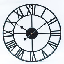 Load image into Gallery viewer, Roman Numerals Iron Wall Clock
