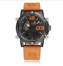 Load image into Gallery viewer, NAVIFORCE Men's Fashion Sport Watches - Man Leather Military Waterproof Watch