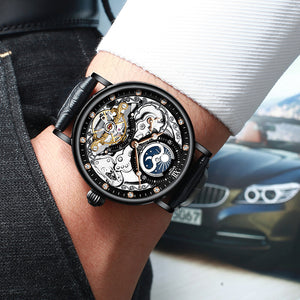 Tik Tok Skeleton Watch - Mechanical / Automatic Men's Watch