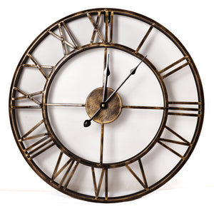 Roman Numerals Iron Wall Clock