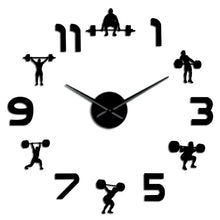 Load image into Gallery viewer, DIY Weightlifting Fitness Room Wall Clock