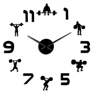 DIY Weightlifting Fitness Room Wall Clock