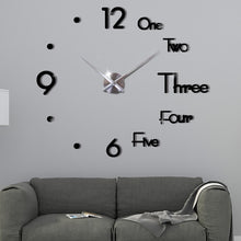 Load image into Gallery viewer, 3D DIY Large Modern Design Wall Clock - Living Room Home Decor
