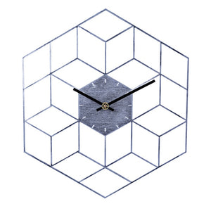 Creative Iron Cube Wall Clock Home Decoration - Perfect Housewarming Gift