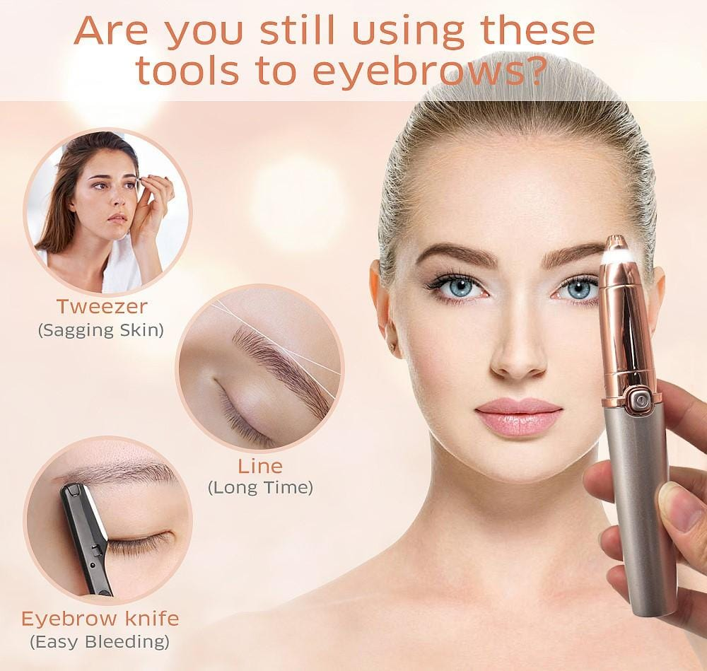 Smilaser Electric Eyebrow Hair Remover 2.0 (Upgraded Blade)
