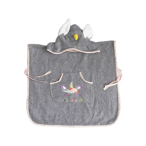 Poncho de Plage Licorne Eponge Fairylynncreation aubergine