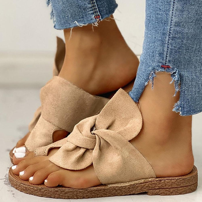 Fancyland™ Women Flat non-slip bow Casual Daily Comfy Slip On Sandals