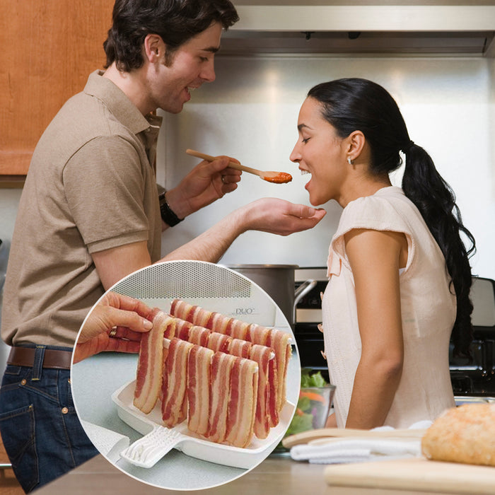 Fancyland™Microwave Bacon Cooker Tray Rack