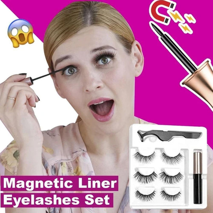 Fancyland™ Magnetic Eyelashes and Eyeliner Set