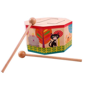 Fancyland™ Kids Early Learning Instrument Wooden Drum Musical Toy Play Fun
