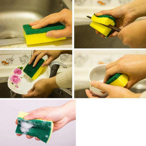 Fancyland™Wipe Dish Sponge Kitchen Clean Scouring Cloth Dish Washing Sponge Scouring Pads Kitchen Cleaning Tools