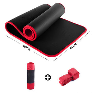 Fancyland™ Thickened ultra-soft yoga mat fitness exercise Pilates mat tear-resistant yoga mat bag