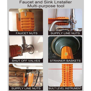 Fancyland™ 8 in 1Faucet& Sink Installer tool
