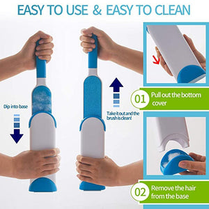 Fancyland™ Hair removal brush with automatic cleaning base