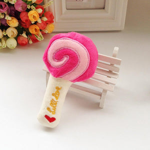 Fancyland™ Dog Plush Vocal Toy Cute Lollipop Molars Small Pet Toys