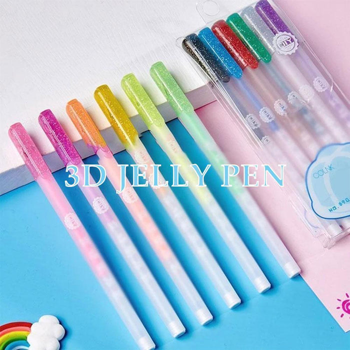 Fancyland™ 3D Glossy Jelly Ink Pen Set (Buy More Save More)