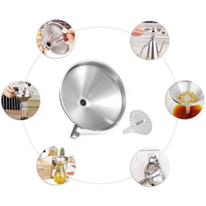 Fancyland™Stainless Steel Kitchen Oil Funnel