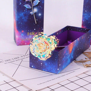 Fancyland™ Colorful Galaxy Rose with Love