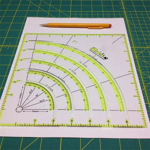 Fancyland™ ARCS & FANS QUILT CIRCLE CUTTER RULER
