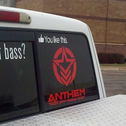 AOR Anthem Vertical Large Decal Red