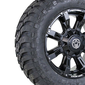 20x9 - A712 Defender w/ 35x12.50R20 Free Passer X-Cross MT (Set of 4)