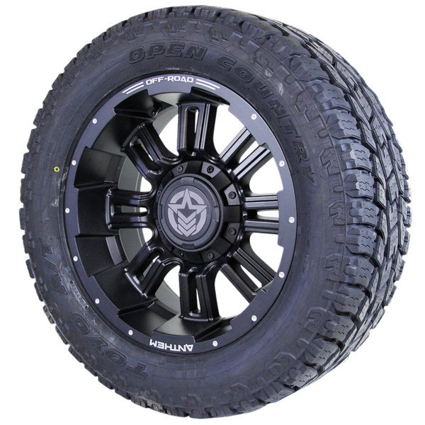 20x9 - A722 Enforcer w/ 285-55R20 Toyo Open Country AT2 (Set of 4)