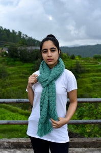 Mountain Green HandCrochet scarf