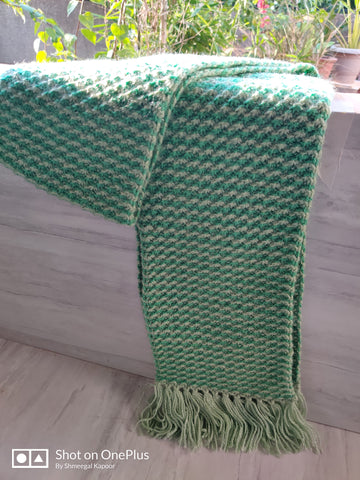 Forest Green Woolen Scarf