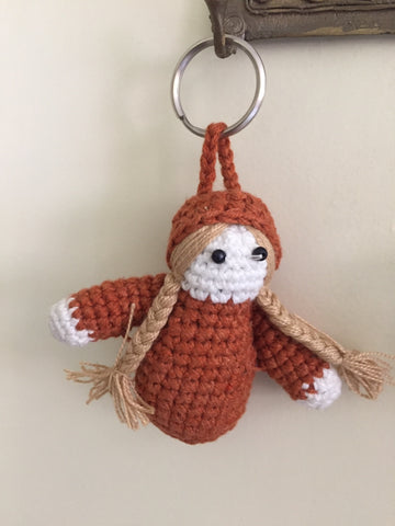 Doll Crochet Key Ring