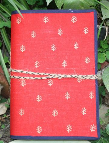 "Block printed cloth cover Diaries (7""x9.5"")"