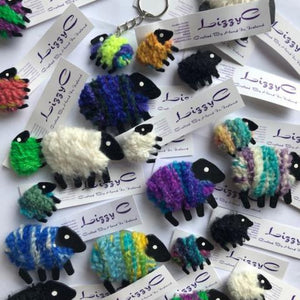 Lizzy C Sheep Brooches & Magnets