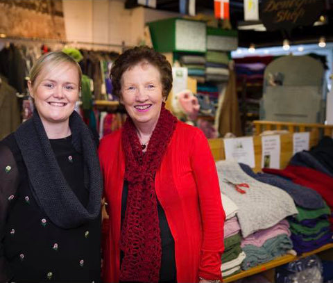 Carol and Linda-Mae Meagle, owners of The Donegal Shop, Dublin