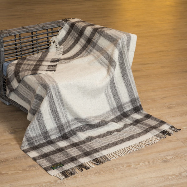 John Hanly Natural Wool Eco  Throw