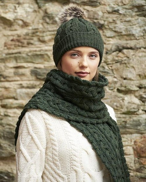 Aran Chunky Cable Knit Scarf